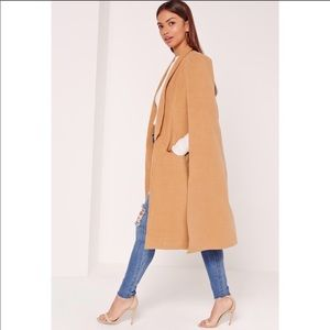 Brand New Missguided Camel Cape Coat